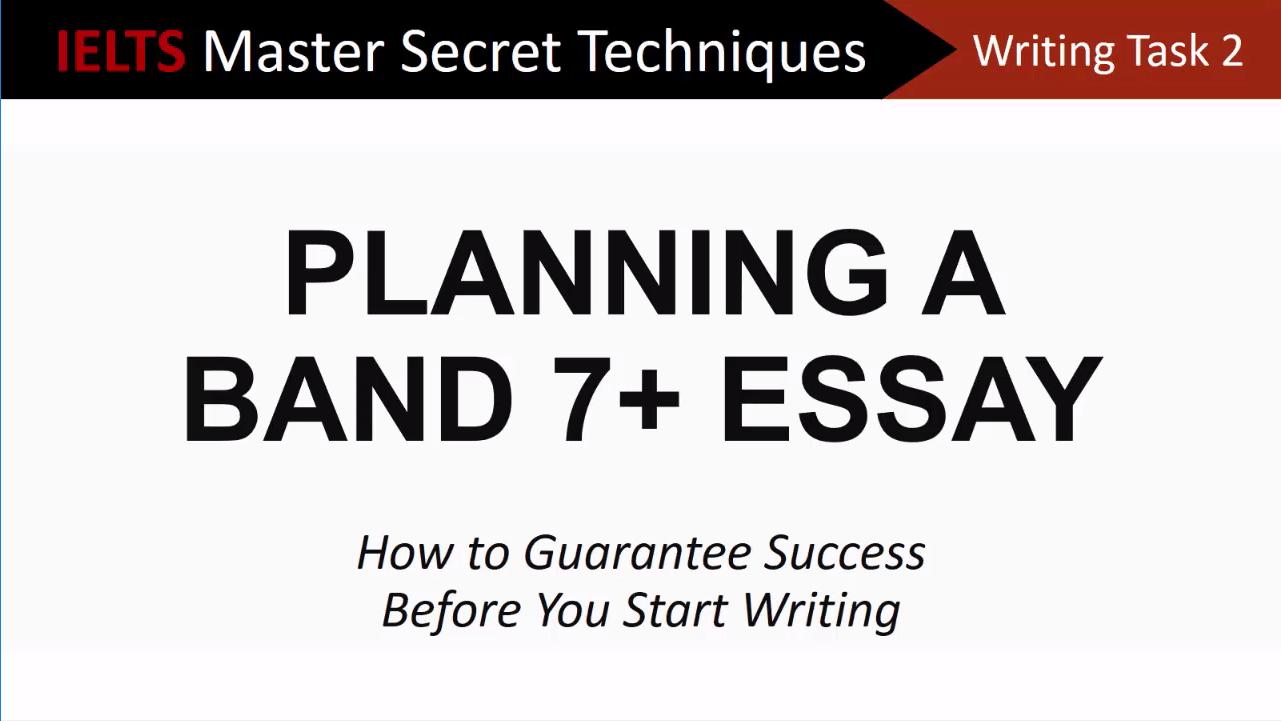 ielts essay writing techniques