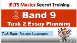IELTS Writing Task 2 Planning Practice: Language Topic