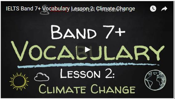IELTS Vocabulary Video Lesson 2: Climate Change